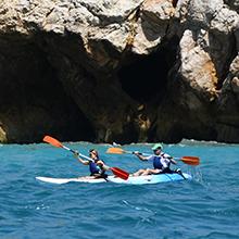 Open kayak à la mer