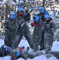 Paintball nieve