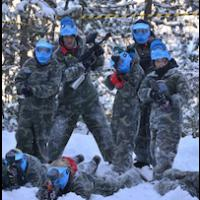 Snow Paintball