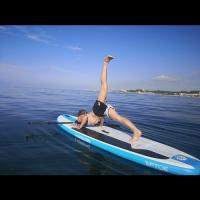 SUP Yoga in the sea