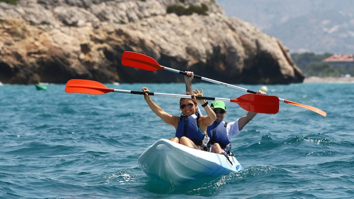 Excursión Open Kayak + snorkel + pic-nic 3h