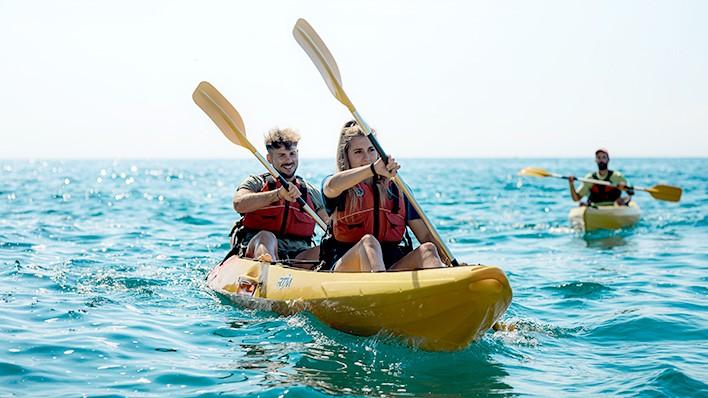 PASÍFAE Atardecer - Excursión guiada en open kayak o paddle surf 2h