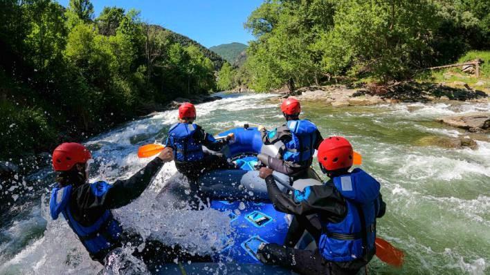 Rafting de Llavorsí a Rialp (14KM) + Barranco de iniciación