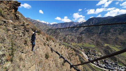 Guided route to Alins' Via Ferrata from 1 to 3 people