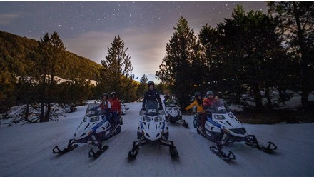 DOUBLE SNOWMOBILE NIGHT RIDE 40MIN + DINNER