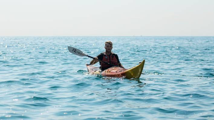 Sea kayak expedition 'Calas de Sitges' 3 hours