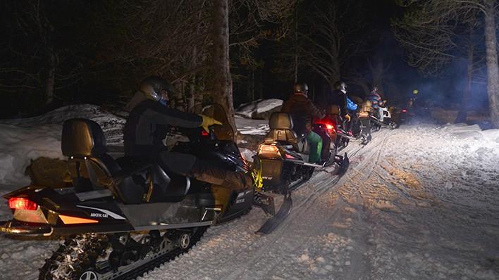 MOTONEIGE DOUBLE NOCTURNE 40MIN + REPAS
