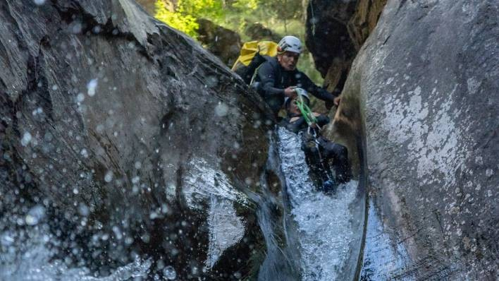 Canyon de Berrós + kayak double 1h Lagoon de la Torrassa